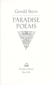 Cover of: Paradise poems