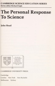 Cover of: The personal response to science