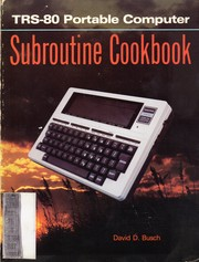 Cover of: TRS-80 portable computer subroutine cookbook