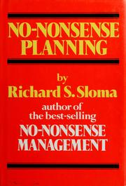 Cover of: No-nonsense planning