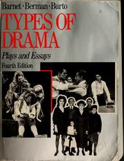 Cover of: Types of drama: plays and essays