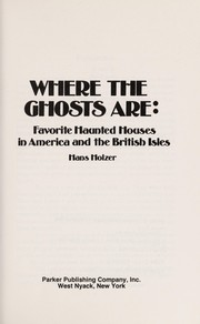 Cover of: Where the ghosts are