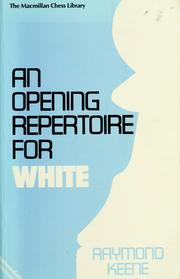 Cover of: An Opening Repertoire for White