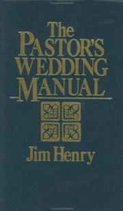 Cover of: The pastor's wedding manual
