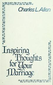 Cover of: Inspiring thoughts for your marriage