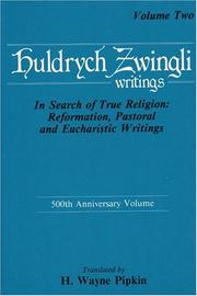 Cover of: Huldrych Zwingli: writings.