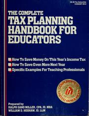 Cover of: The complete tax planning handbook for educators