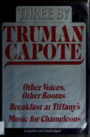 Cover of: Three by Truman Capote