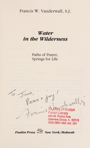 Cover of: Water in the wilderness