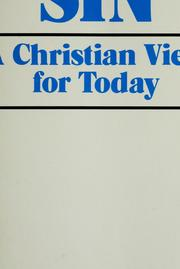 Cover of: Sin, a Christian view for today