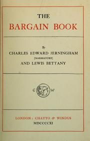 Cover of: The bargain book