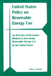 Cover of: United States policy on renewable energy use