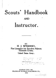 Cover of: Scouts' handbook and instructor