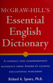 Cover of: McGraw-Hill's Essential English dictionary