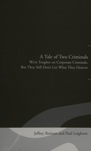 Cover of: A tale of two criminals