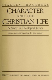 Cover of: Character and the Christian life