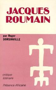 Cover of: Jacques Roumain