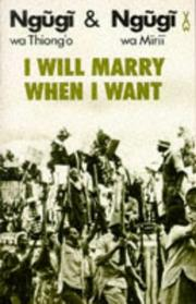 Cover of: I will marry when I want