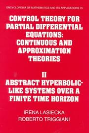 Cover of: Control theory for partial differential equations