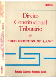 Cover of: Direito constitucional tributário e due process of law
