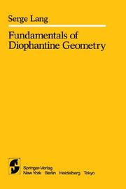 Cover of: Fundamentals of diophantine geometry