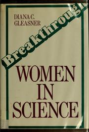 Cover of: Breakthrough, women in science