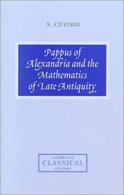 Cover of: Pappus of Alexandria and the mathematics of late antiquity