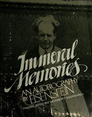 Cover of: Immoral memories