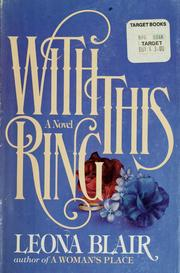 Cover of: With this ring