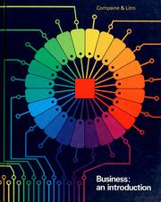 Cover of: Business, an introduction