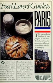 Cover of: The food lover's guide to Paris