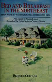 Cover of: Bed and breakfast in the Northeast