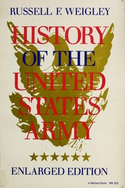 Cover of: History of the United States Army