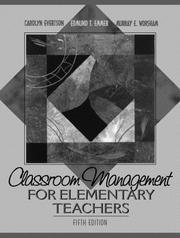 Cover of: Classroom management for elementary teachers