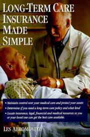 Cover of: Long-term care insurance made simple