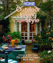 Cover of: Home magazine outdoor living with style