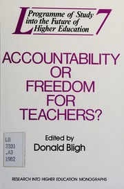Cover of: Accountability or freedom for teachers?