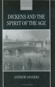 Cover of: Dickens and the spirit of the age