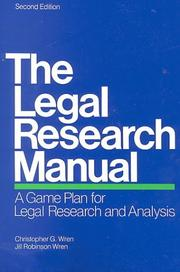 Cover of: The legal research manual