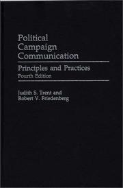Cover of: Political campaign communication