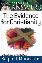 Cover of: One-minute answers--the evidence for Christianity