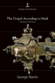 Cover of: The Gospel according to Mark