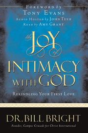 Cover of: The joy of intimacy with God