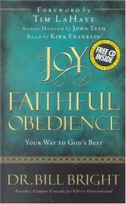 Cover of: The joy of faithful obedience