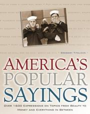 Cover of: America's popular sayings