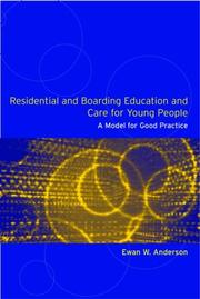 Cover of: Residential and boarding education and care