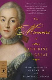 Cover of: Mémoires de l'impératrice Catherine II