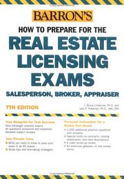 Cover of: Barron's how to prepare for the real estate licensing exams