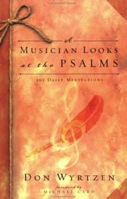 Cover of: A musician looks at the Psalms