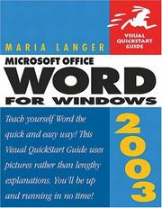 Cover of: Microsoft Office Word 2003 for Windows